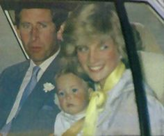 Charles, Diana and William Notice how much he resembles Bush? they're related