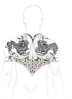 I'd prefer my man without tattoos, but if he insists on having one, then go Celtic warrior or go home. -cj You are in the right place about secret Tattoo Placement Here we offer you the most beautiful Yggdrasil Tattoo, Norse Tattoo, Celtic Tattoos, Viking Tattoos, Irish Tattoos, Armor Tattoo, Warrior Tattoos, Tattoo Drawings, Body Art Tattoos