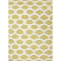 Jaipur Rugs RUG102770 Flat-Weave Tribal Pattern Wool Ivory/Green Area Rug ( 3.6x5.6 )