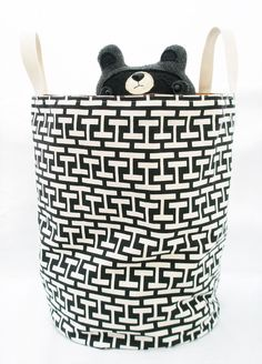Storage Bin , Canvas Bin , Reversible Bin. $48.00, via Etsy.