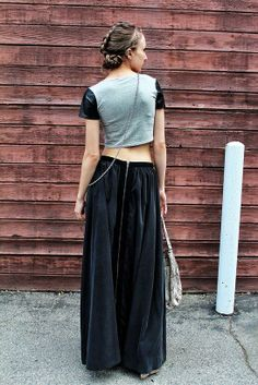 Christen in the Nasty Gal Full Swing Maxi Skirt || Get the skirt: http://www.nastygal.com/clothes/full-swing-maxi-skirt