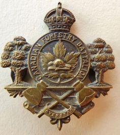 WW1 Canadian Forestry Battalion Small Cap Badge OB Allan Original Tangs Overseas in Collectibles, Militaria, WW I (1914-18), Original Period Items, Canada | eBay