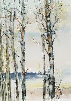 NANDOR MIKOLA KOIVIKKO. Signeerattu ja päivätty 1987. Vesiväri 100x70 cm.