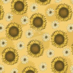 Sunflower Pattern by Janelle-Dimmett.deviantart.com on @deviantART