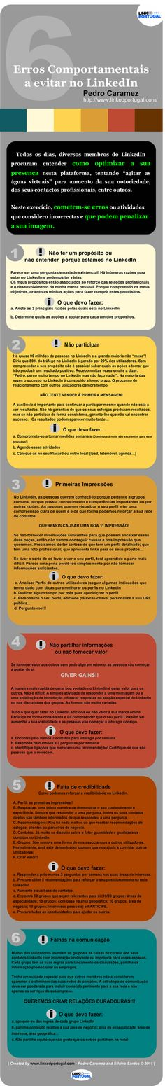 6 mistakes to avoid on LinkedIn, by Pedro Caramez (Portugal)