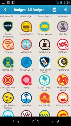 display of foursquare badges
