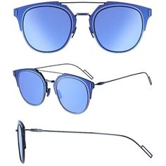 Pre-owned Dior Homme Dior Composit 1.0 Sunglasses Shiny Blue... (3,690 CNY) ❤ liked on Polyvore featuring accessories, eyewear, sunglasses, christian dior, rectangle glasses, christian dior sunglasses, rectangular sunglasses and christian dior glasses