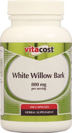 PAIN from Fibromyalgia stops me from doing a lot of things in life even exercising. White Willow Bark used for natural herbal pain relief. ---- Something I'm going to try. I hate taking Vicodin. I only take it when my pain is unbearable. So if this works then I can stop killing my body with Vicodin. 800mg might be too high. Might look for lower dose first. $3.99 for this bottle