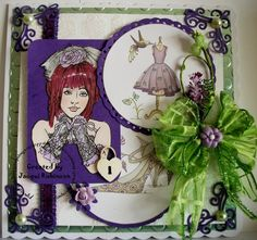 Fitztown Challenge Blog: GD Jacqui - Favourite Colour, using Cameo 10 from Fitztown.com, visit Jacqui's personal blog for details: http://cinderellaspalace11.blogspot.co.uk/