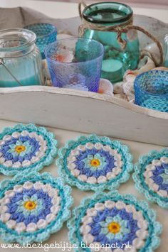 Free Pattern – Flower Coasters | Crochet | CraftGossip | Bloglovin'