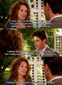 My Best Friend's Wedding (1997) Julianne and Michael // Julia Roberts and Dermot Mulroney