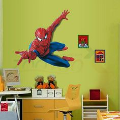 Very Boy Have A Dream Be Spiderman Wall Stickers for Kids Room Pvc Wall Decal for Children Boys Kids Room Superman Super Hero -- Check out this great article. #HomeDecor