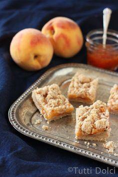peach cookie bars