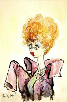 Lucy Caricature by Ronald Searle | Lucille Ball caricature w… | Flickr