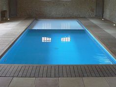 piscine-interieur-marinal Indoor Swimming Pools, Pool Water, Pond, Pool Covers, Spa, Architecture, Outdoor Decor, House, Wellness