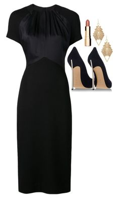 """""""Donna Paulsen Inspired Outfit"""" by daniellakresovic ❤ liked on Polyvore featuring Jason Wu, Clarins, Charlotte Russe and Casadei"""