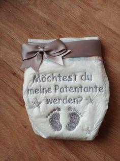 Embroidered Diaper Patentante Diaper Cakes Baptism & Birth Handmade with love in Lampertheim Germany by Karal Breastfeeding Techniques, Baby Kind, Baby Party, Diaper Cakes, Couches, Educational Toys, Diy Baby, Baby Names, Diy Design