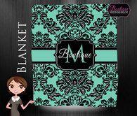 Blanket, Preppy Design, Monogrammed Blanket, Personalized Blanket, Custom Wedding Gift