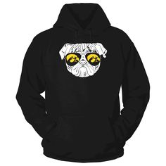 Pug Life - Iowa Hawkeyes T-Shirt  owa Hawkeyes Official Apparel - this licensed gear is the perfect clothing for fans. Makes a fun gift!  AVAILABLE PRODUCTS Gildan Unisex Pullover Hoodie - $44.95   Gildan Unisex Pullover Hoodie District Women District Men Gildan Long-Sleeve T-Shirt Gildan Fleece Crew Next Level Women View sizing / material info BUY IT NOW ...