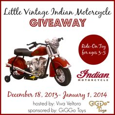 Win a Little Vintage Indian Motorcycle