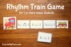 Rhythm Train Game - A game that makes clapping rhythms a little more fun LOVE and it looks like they are free printables! YAY! PE