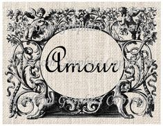 French Words Amour by HeirloomGraphics