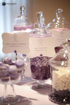 candy, dessert table, purple ombre, first birthday, gourmaya.tumblr.com