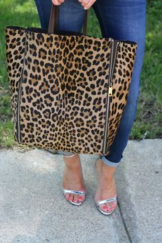 Leopard and zippers