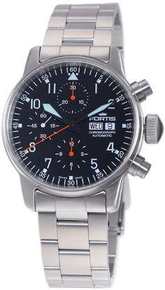 Fortis Watch Aviatis Flieger Classic Chronograph #bezel-fixed…