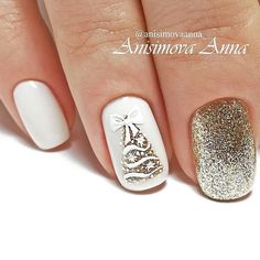 Festive nail art ideas for Christmas to Beautify the Mom.- Festive nail art ideas for Christmas to Beautify the Moment - Christmas Gel Nails, Xmas Nail Art, Holiday Nails, Nail Art For Christmas, Snowman Nail Art, Seasonal Nails, Nailart, Simple Nails, Soft Nails