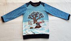 Basic Longsleeve - Pauli Winterspas - Gr. 98/104 Christmas Sweaters, Long Sleeve, Fabric, Sleeves, Cotton, Shirts, Stuff To Buy, Fashion, Tejido