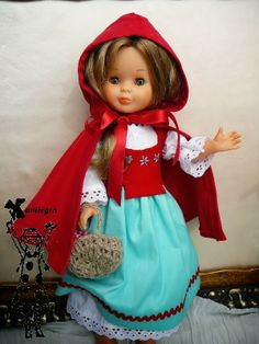 Little Red Riding Hood doll dress famous Nancy Sewing Doll Clothes, Doll Clothes Patterns, Nancy Doll, American Girl Crafts, Kool Kids, Child Smile, Ag Dolls, Red Riding Hood, Diy Doll