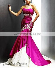Hot Pink Wedding Dresses | hot-pink-mermaid-wedding-dressesmermaid ...