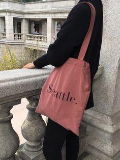 Aesthetic Bags, Retro Aesthetic, Shopper Bag, Cotton Bag, Minimal Fashion, Fashion Outfits, Womens Fashion, Canvas Tote Bags, Korean Fashion