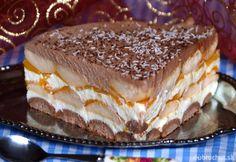 Fotorecept: Nepečená broskyňová torta
