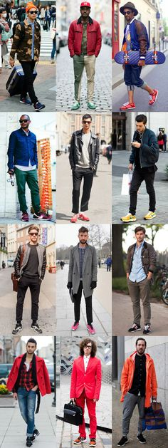 Men's Street Style - Retro Running Trainers  rockin your trainers is trending on whitesands