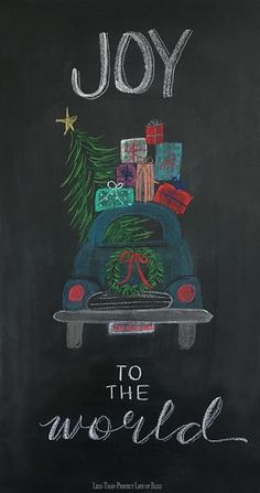 Just a Little More Christmas Chalkboard Art (and Free Printable Gift Tags!) | Less Than Perfect Life of Bliss | home, diy, travel, parties, family, faith
