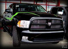 Dodge Ram Hemi ~ Matte Black w/ Silver Metallic Racing ...