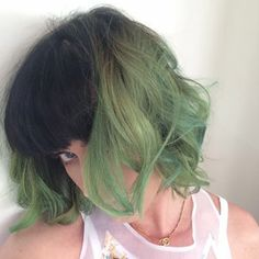 "Katy Perry Dyes Her Hair ""Slime Green"""
