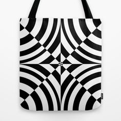 Black and white Geometric abstraction: chess? Tote Bag by aapshop - $22.00