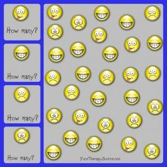 How Many Smile Faces Visual Discrimination Puzzle