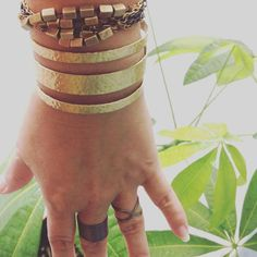 Need a simple #armcandy  We have many cuffs and layered bracelets at our Coconut Grove studio & shop  #coconutgrove #miamishops #jewelrystudio #wednesdaybaubles #quepadre