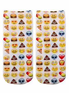 """What's your most used emoji?! *UNISEX *100% POLYESTER *MADE IN THE USA *ONE SIZE FITS MOST * 7.5"""" L X 3"""" W PRINTED ON ONE SIDE ONLY."""
