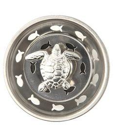 This Sea Turtle Kitchen Sink Strainer is perfect! #zulilyfinds