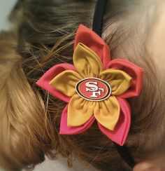 San Francisco 49ers headband by BellaGraceBoutique11 on Etsy, $12.00