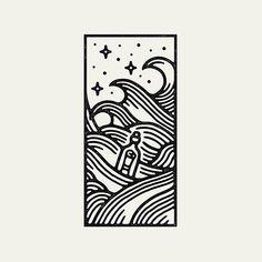 Work by @liamashurst ・・・ #graphicdesign #design #art #artwork #illustration #drawing #tattoo #waves #nautical #handdrawn #slowroastedco #travel #explore #nature #outdoors #adventure