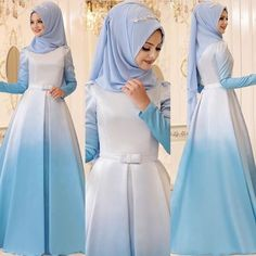 Hijab Dress Party, Muslim Wedding Dresses, Muslim Dress, Abaya Mode, Hijab Mode, Muslim Women Fashion, Islamic Fashion, Abaya Fashion, Fashion Dresses