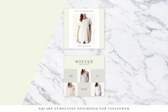 Light Fashion Instagram Pack - Web Elements - 5 Instagram Fashion, Templates, Shopping Mall, Creative, Design, Models, Stenciling, Shopping Center, Stencils