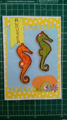 Sea horse Card scrapbook