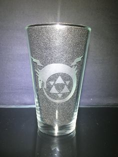 Etched Glass, Glass Etching, Homunculus, Fullmetal Alchemist Brotherhood, Pint Glass, Customized Gifts, Unique Gifts, Just For You, Symbols